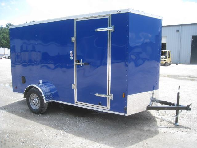 2021 Continental Cargo 6x12 Vnose Enclosed Cargo Trailer with Ramp