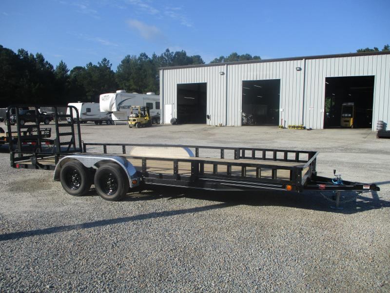 """2022 PJ Trailers UL 20' x 83"""" Utility Trailer with Rear Gate and Side ATV Ramps"""