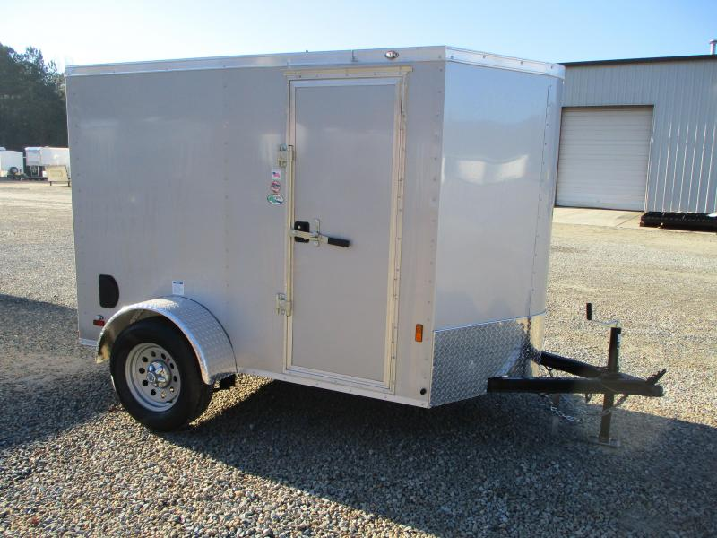 2021 Continental Cargo Sunshine 5x8 Vnose Enclosed Cargo Trailer with Ramp Door and Side Door