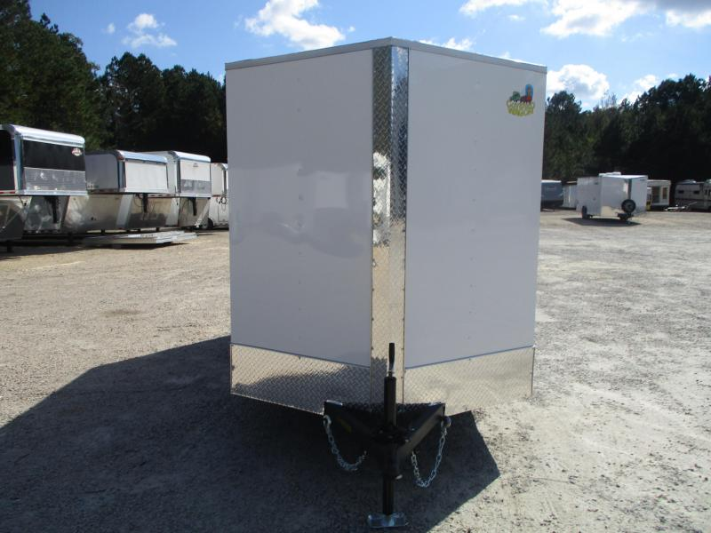 2021 Covered Wagon Trailers Silver Series 6x12 Vnose Enclosed Cargo Trailer