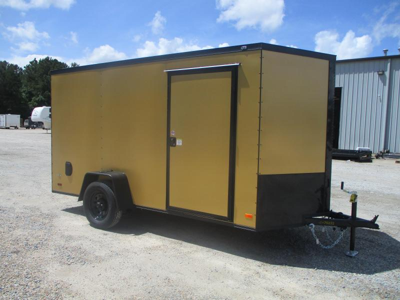 2021 Covered Wagon 6x12 Vnose Cargo Trailer with Blackout Trim Package