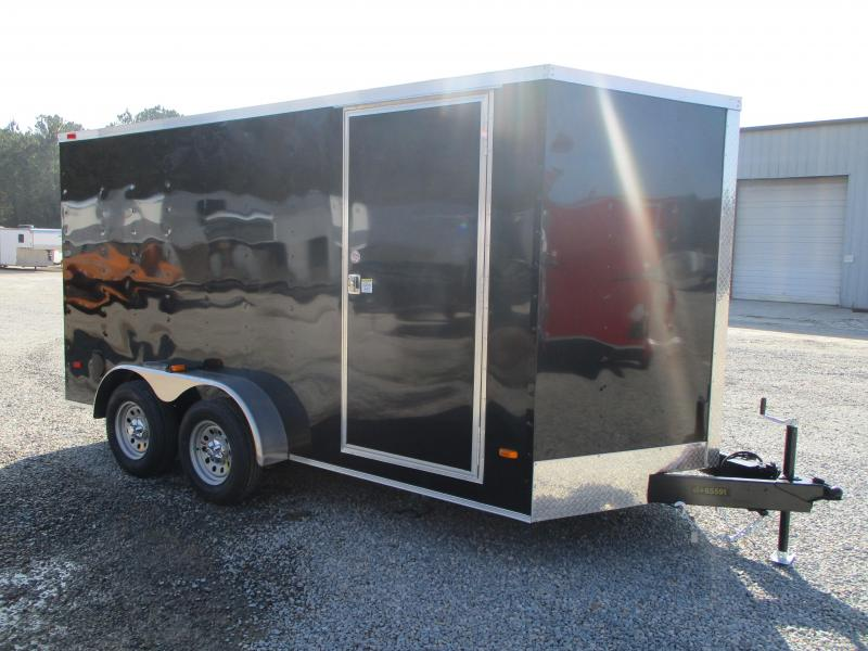PRICE BUSTER 2021 Covered Wagon Trailers Silver Series 7x14 Vnose Enclosed Cargo Trailer with Ramp Door