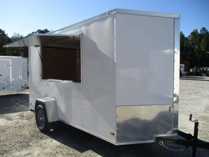 2021 Covered Wagon Trailers Gold Series 6x12 Vnose Vending / Concession Trailer