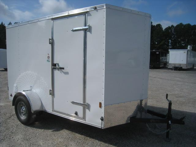 2021 Continental Cargo Sunshine 6x10 Vnose Enclosed Cargo Trailer with Double Rear Doors