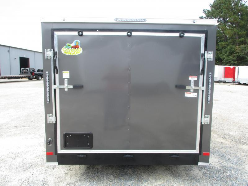 2021 Covered Wagon Trailers 7X12 Gold Series Motorcycle Trailer with Finished Interior