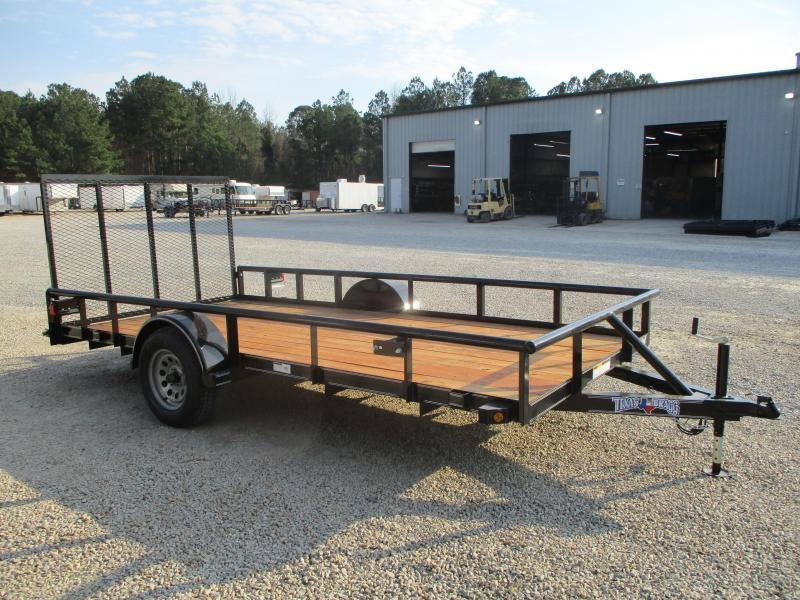 2021 Texas Bragg Trailers 6x14P Heavy Duty Utility Trailer with Gate