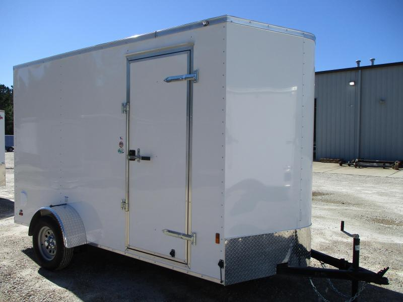 "2021 Continental Cargo Sunshine 6x12 Vnose Cargo Trailer with 12"" Extra Height"