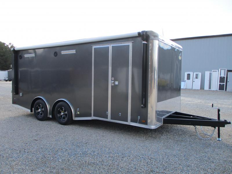 2021 Covered Wagon Trailers Gold Series 8.5x20 Loaded Spread Axle Enclosed Race Trailer