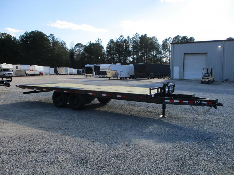 2021 PJ Trailers T8 22' Power Tilt Deckover Equipment Trailer with 8k Dexters
