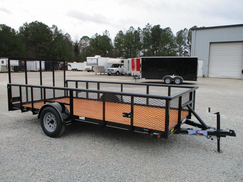 """2021 Texas Bragg Trailers 6x14 Utility Trailer with 24"""" Expanded Metal Sides"""
