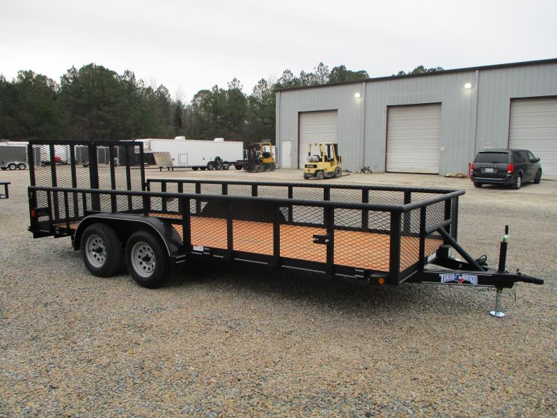 """2021 Texas Bragg Trailers 18P Commercial Grade Utility Trailer with 24"""" Expanded Metal Sides"""