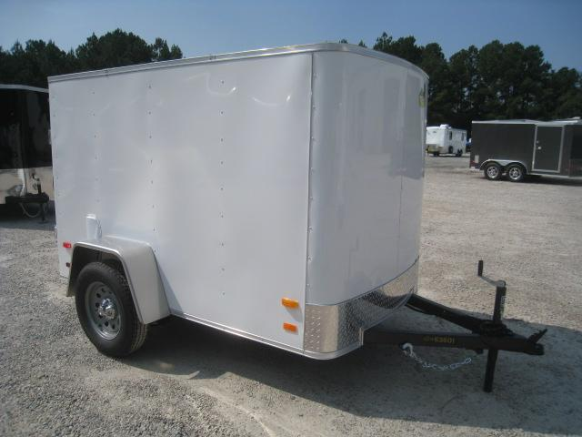 2021 Covered Wagon Trailers Silver Series 5x8 Enclosed Cargo Trailer with Swing Open Rear Door