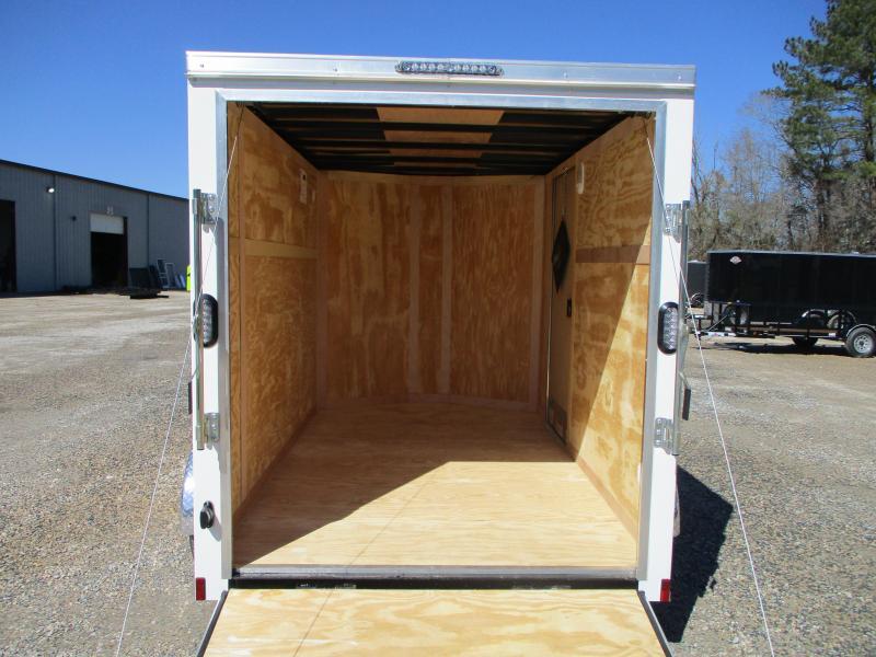 2022 Continental Cargo Sunshine 6x10 Vnose Enclosed Cargo Trailer with Ramp Door