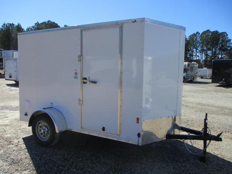 2022 Continental Cargo Sunshine 6x10 Vnose Enclosed Cargo Trailer with Ramp Door
