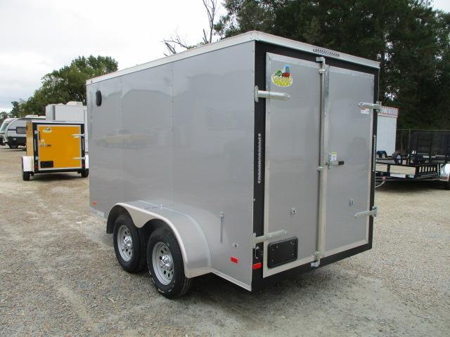 2022 Covered Wagon Trailers Gold Series 6x12 Tandem Axle Vnose Enclosed Cargo Trailer