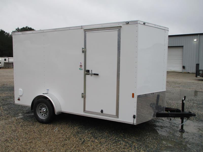 2022 Continental Cargo Sunshine 7x12 Vnose Single Axle Enclosed Cargo Trailer with Ramp Door