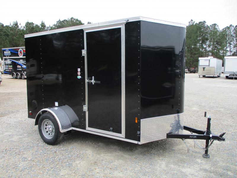 2021 Continental Cargo Sunshine 6x10 Vnose Enclosed Cargo Trailer with Ramp Door