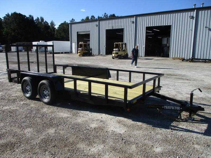 2021 Covered Wagon Trailers Prospector 77x16 Tandem Axle Utility Trailer  with Rear Gate