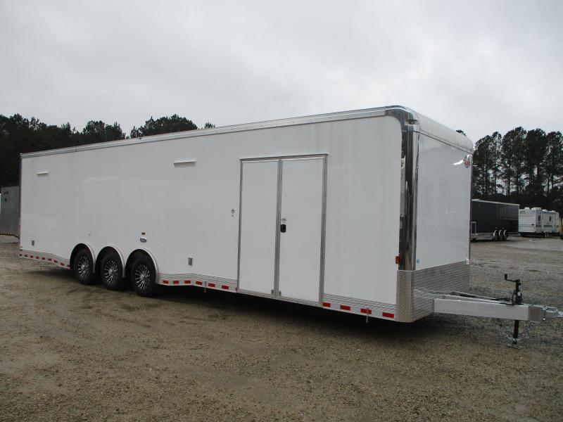 2021 Cargo Mate Eliminator SS Aluminum 34' Loaded Spread Axle Racing Trailer