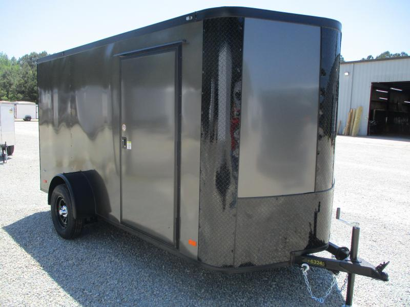 2021 Covered Wagon Trailers Gold Series 6x12 Vnose Enclosed Cargo Trailer with Blackout Package