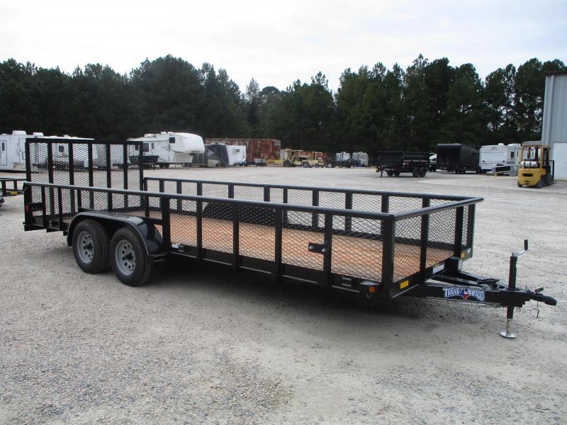 2020 Texas Bragg Trailers 20' Tandem Axle Utility Trailer