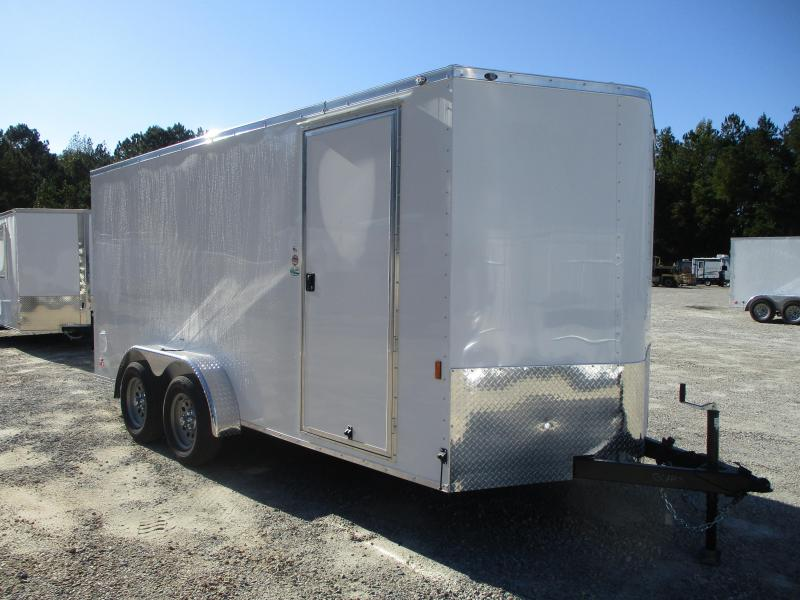 2021 Continental Cargo Sunshine 7x16 Vnose Enclosed Cargo Trailer  with Ramp Door