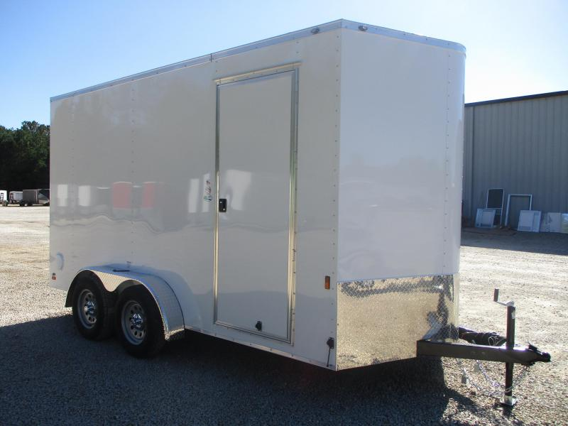 "2021 Continental Cargo Sunshine 7x14 Vnose Enclosed Cargo Trailer  with 12"" Extra Height"