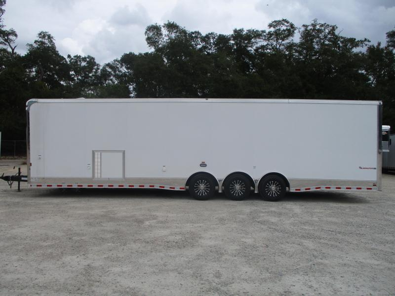 2021 Cargo Mate Eliminator SS 34' Race Trailer with Full Bath Package