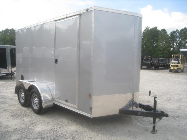 2021 Continental Cargo Sunshine 6x12 Vnose Enclosed Cargo Trailer with Double Rear Door