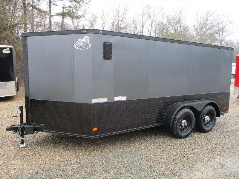 2021 Covered Wagon Trailers Gold Series 7x14 Vnose Motorcycle Trailer with EXTRAS