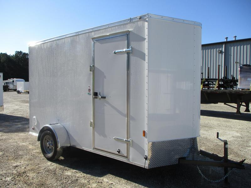 "2021 Continental Cargo Sunshine 6x12 Vnose Enclosed Cargo Trailer with 12"" Extra Height"
