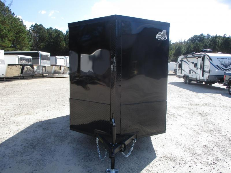 BLACKOUT 2021 Covered Wagon Trailers Gold Series 6x12 Vnose Enclosed Cargo Trailer with Ramp Door