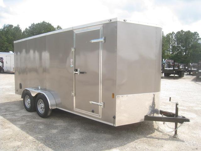 2021 Continental Cargo Sunshine 7x16 Vnose Enclosed Cargo Trailer with Ramp Door
