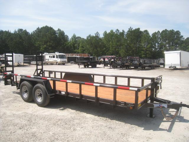2020 Texas Bragg Trailers 20' Big Pipe Equipment Trailer with 6K Axels