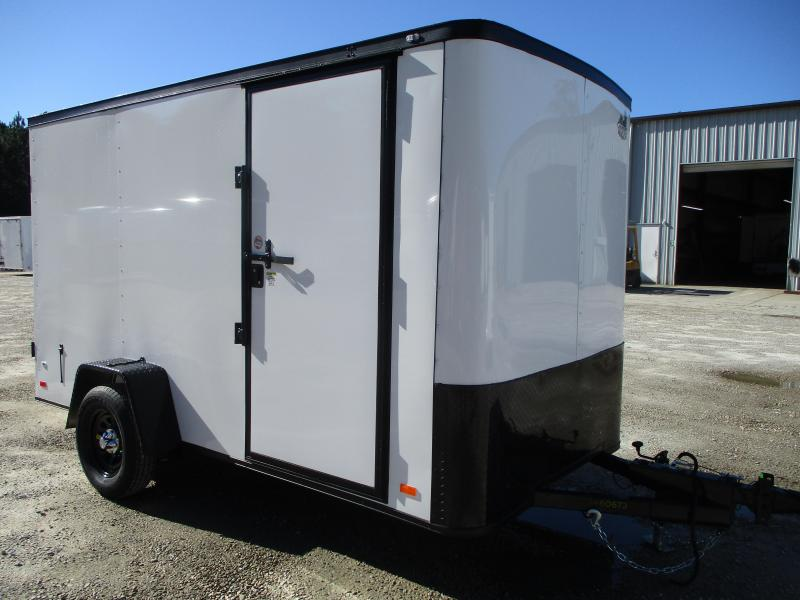 2021 Covered Wagon Trailers Gold Series 6x12 Vnose Enclosed Cargo Trailer Surge Brakes and Double Doors