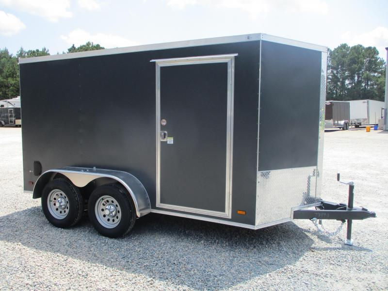 2022 Covered Wagon Gold Series 6x12 Vnose Tandem Axle Cargo Trailer with Ramp Door