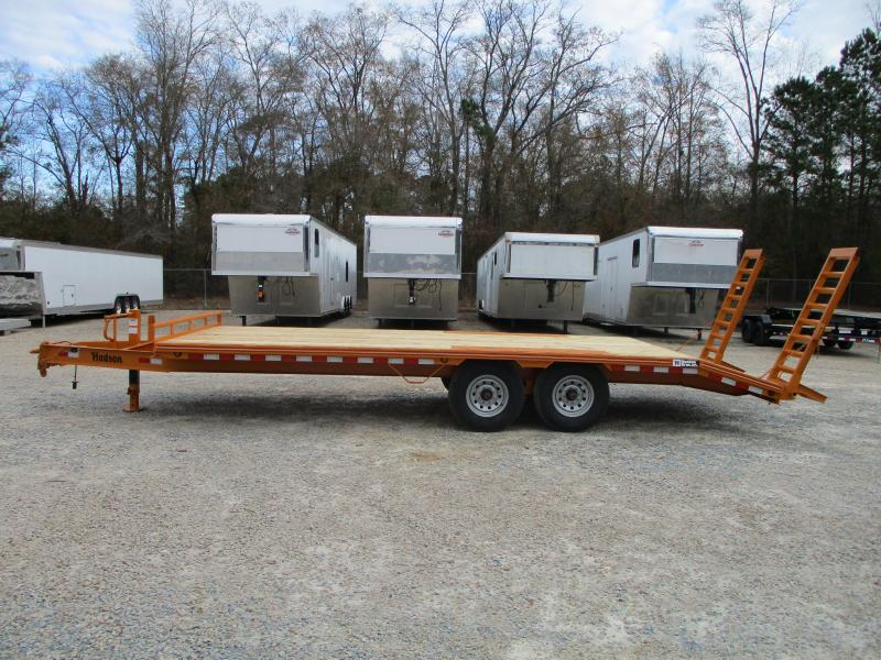 2021 Hudson Brothers HTMBG 7 Ton 21' Deckover Equipment Trailer with Flip Up Ramps