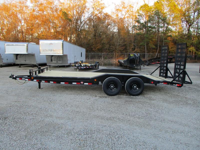 2021 PJ Trailers B6 20' Superwide Equipment Trailer with 7k Axles