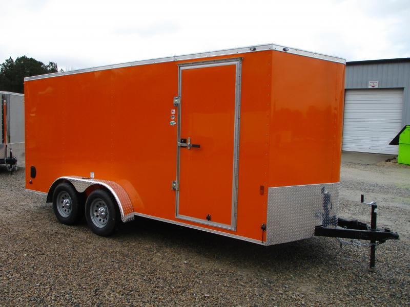 2022 Continental Cargo Sunshine 7x16 Vnose Enclosed Cargo Trailer with Ramp Door