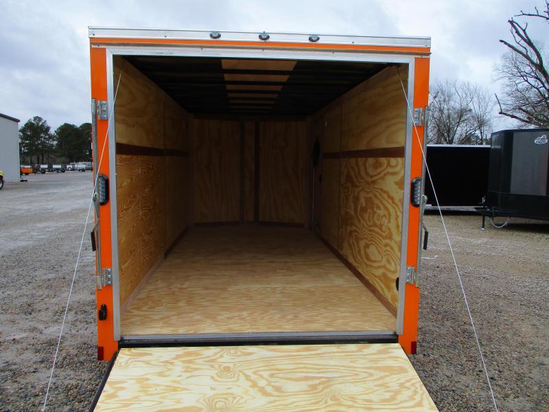 2022 Continental Cargo Sunshine 7x16 Vnose Enclosed Cargo Trailer with Ramp Door