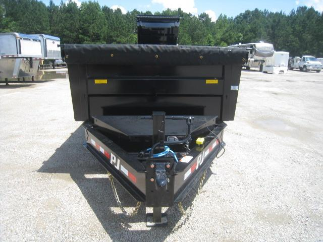 "2021 PJ Trailers DE 83"" X 16' Heavy Duty Low Pro Dump Trailer with 10K Axles"