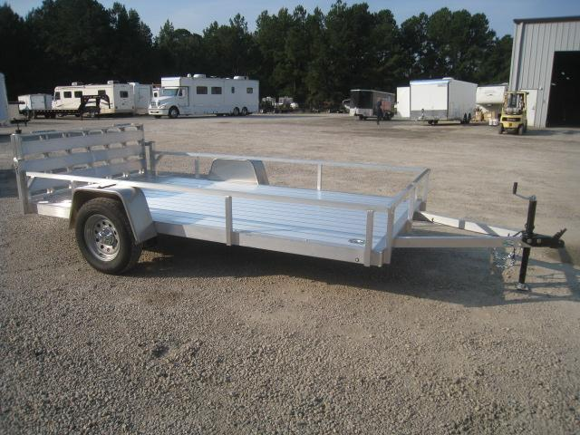 2021 Continental Cargo Rough Rider Aluminum 6.5x12 Open Utility Trailer with Gate