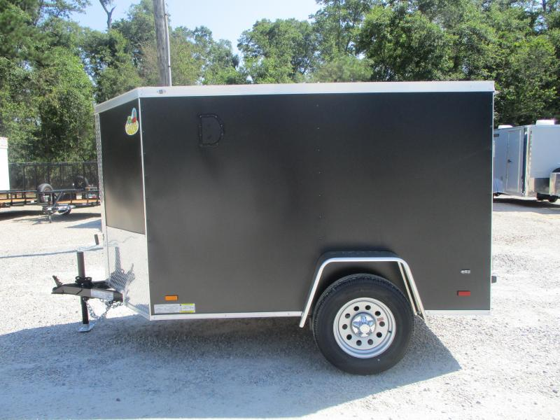 Powdercoated 2022 Covered Wagon Gold Series 5x8 Vnose Cargo Trailer with Ramp Door