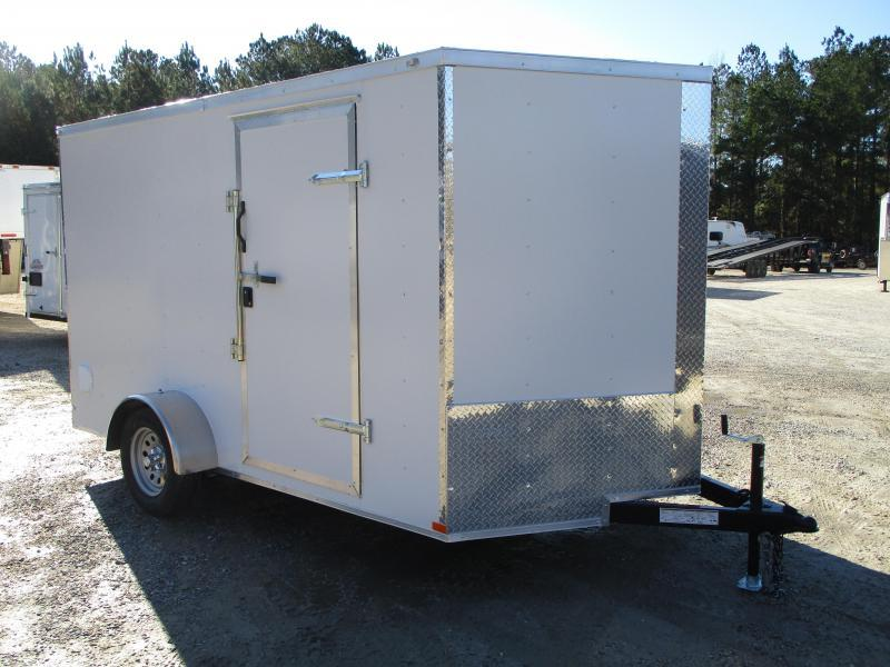 2021 Lark United 7x12 Vnose Single Axle Enclosed Cargo Trailer with Ramp