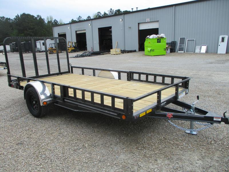 2021 PJ Trailers U8 14x83 Utility Trailer with Rear Gate and Side ATV Ramps