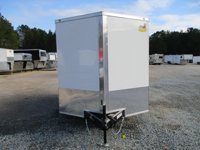 2021 Covered Wagon Trailers Gold Series 7x12 Vnose Vending / Concession Trailer