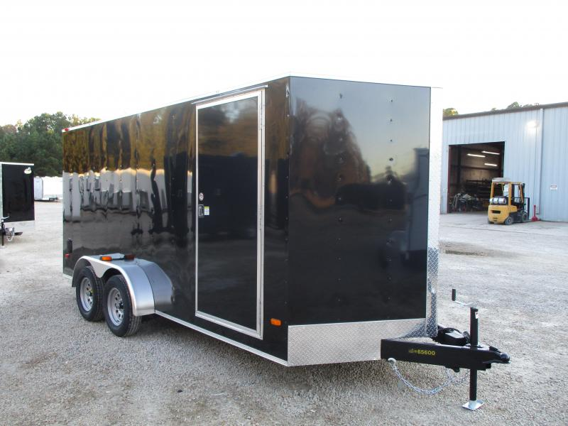 PRICE BUSTER 2021 Covered Wagon Trailers Silver Series 7x16 Vnose Enclosed Cargo Trailer with Ramp Door