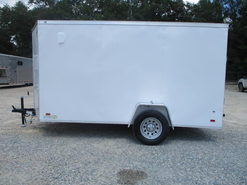2021 Covered Wagon Gold Series 6x12 Vnose Cargo Trailer with Ramp Door