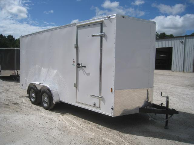 "2021 Continental Cargo Sunshine 7x16 Vnose Enclosed Cargo Trailer with 6"" Extra Height"