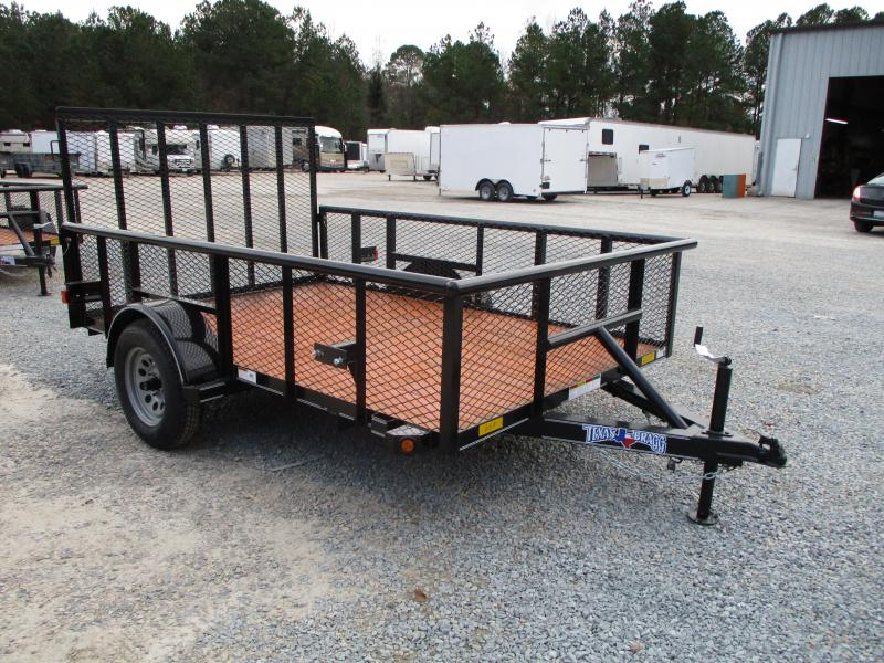"""2021 Texas Bragg Trailers 6x10P Utility Trailer with 24"""" Expanded Metal Sides"""